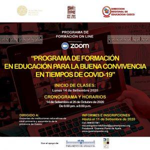 Programa de formación en educación para la buena convivencia en tiempos de COVID-19